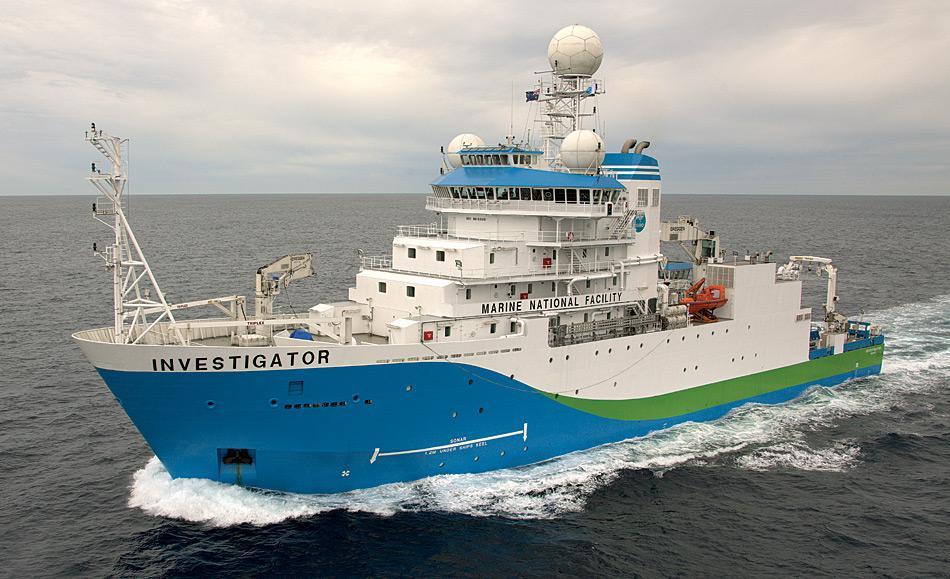 Die RV Investigator ist 94 Meter lang und bietet Platz für 60 Wissenschaftlerund Hilfskräfte.