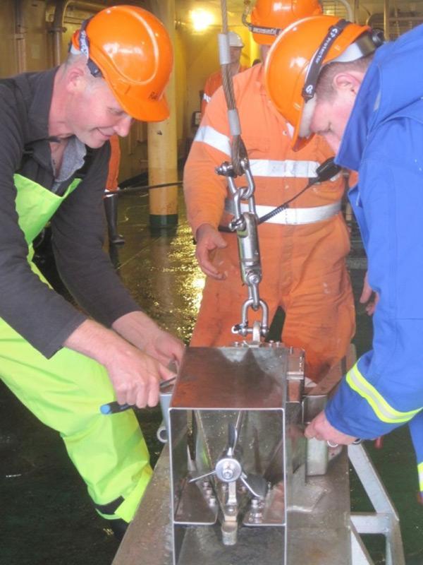 Die Aufzeichungsgeräte für Plankton sind schon 1931 entwickelt worden und helfen, die wichtigen Daten über die Basis des marinen Nahrungsnetzes zu sammeln. Auf der Aurora werden bis zu 450 Seemeilen pro Messung abgedeckt. Bild: Dr. Christina Schallenberg