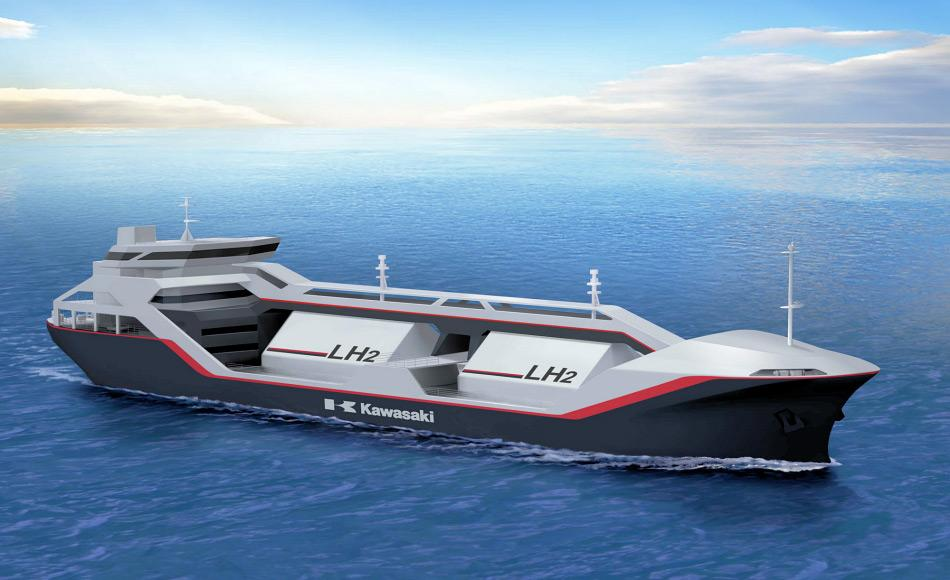 Das erste Spezialschiff für flüssigen Wasserstoff ist bereits gebaut worden. Die Forscher von SINTEF haben ausgerechnet, dass Svalbard die erste Zero-Emissions-Ortschaft der Welt werden könnte, dank dem Wasserstoff, der vom Festland aus verschifft werden könnte. Bild: SINTEF / Kawasaki Heavy Industries
