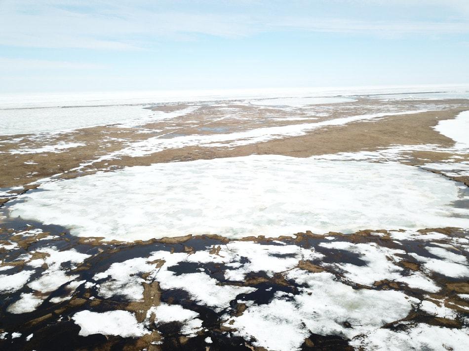 Die Methode wurde auf einem See in Alaska getestet. (Foto: Ice911 Research)