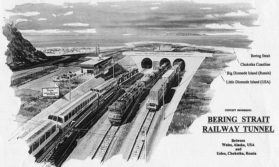Wenn es nach den Plänen des Präsidenten der Russischen Eisenbahngesellschaft geht dürfte in ferner Zukunft eine Bahnverbindung zwischen Russland und Alaska die zwei Kontinente verbinden.